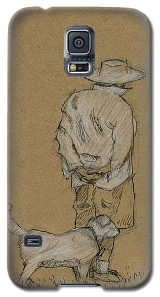 Dog Walker Plein Air Galaxy S5 Case