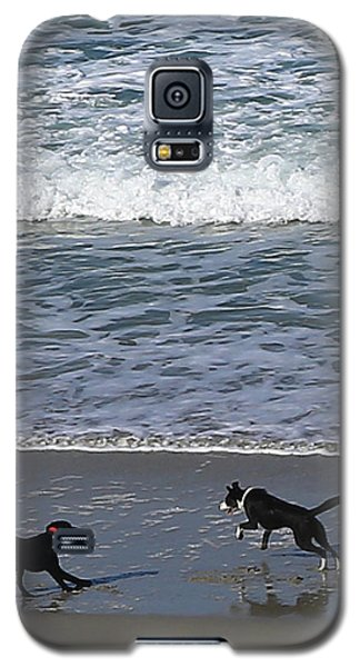 Galaxy S5 Case featuring the photograph Doggie Fun by Nareeta Martin