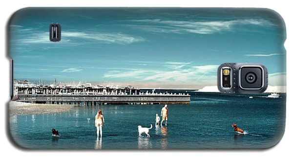 Galaxy S5 Case featuring the photograph Dogs In The Bay by John Rizzuto