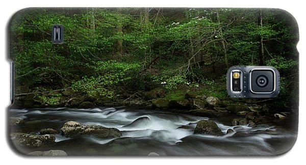 Galaxy S5 Case featuring the photograph Dogwood Along The River by Mike Eingle