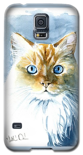 Doll Face Flame Point Himalayan Cat Painting Galaxy S5 Case