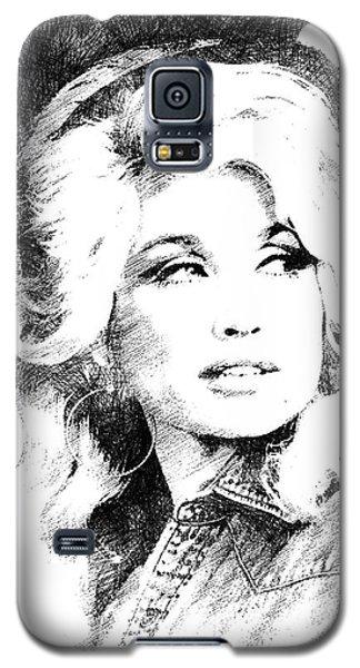 Dolly Parton Bw Portrait Galaxy S5 Case