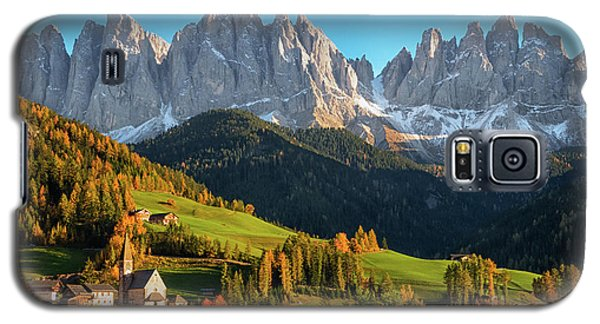 Dolomite Village In Autumn Galaxy S5 Case
