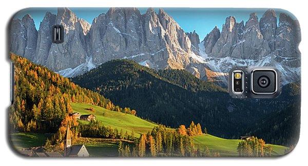 Dolomite Village In Autumn Galaxy S5 Case