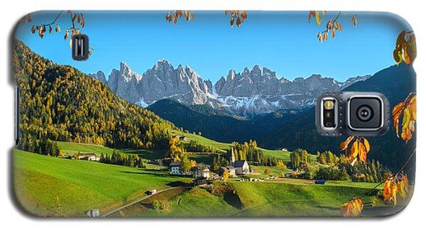 Dolomites Mountain Village In Autumn In Italy Galaxy S5 Case