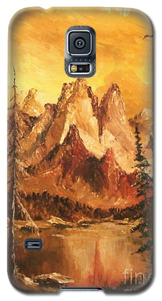 Galaxy S5 Case featuring the painting Dolomiti by Sorin Apostolescu