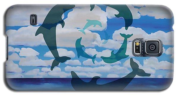 Dolphin Cloud Dance Galaxy S5 Case