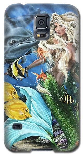 Dolphin Mermaid Galaxy S5 Case