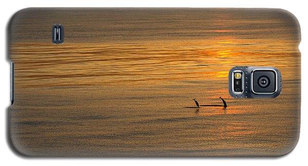 Dolphin Sunset Galaxy S5 Case