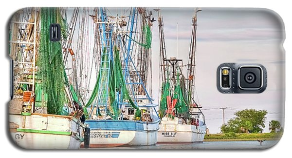 Dolphin Tail - Docked Shrimp Boats Galaxy S5 Case