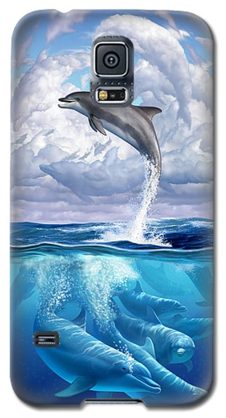 Dolphonic Symphony Galaxy S5 Case by Jerry LoFaro
