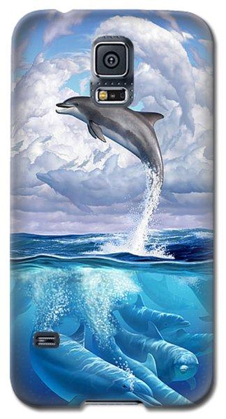 Beach Galaxy S5 Case - Dolphonic Symphony by Jerry LoFaro