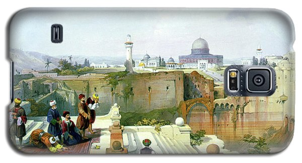 Dome Of The Rock In The Background Galaxy S5 Case by Munir Alawi