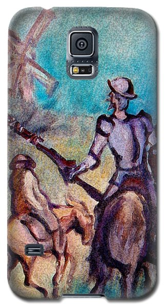Don Quixote With Windmill Galaxy S5 Case