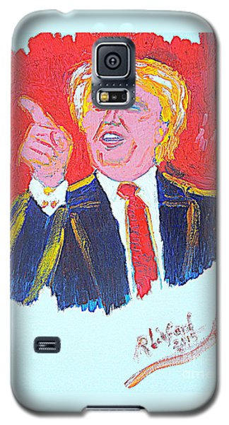 Galaxy S5 Case featuring the painting Donald Trump You Are Great America Is Great  by Richard W Linford