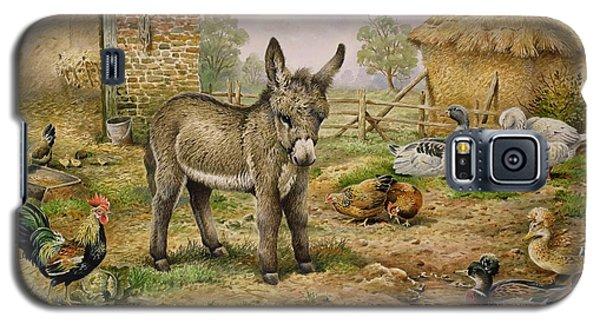 Donkey And Farmyard Fowl  Galaxy S5 Case by Carl Donner