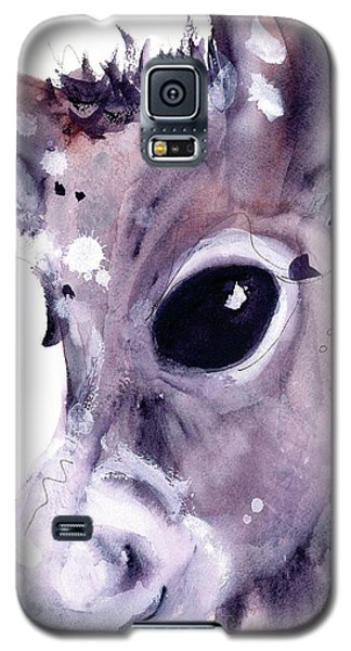 Galaxy S5 Case featuring the painting Donkey by Dawn Derman
