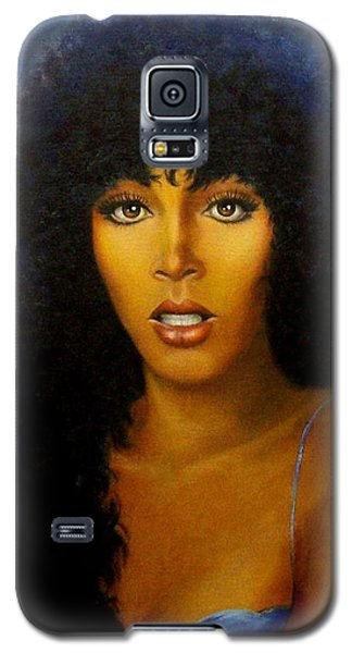 Galaxy S5 Case featuring the painting Donna Summers by Loxi Sibley