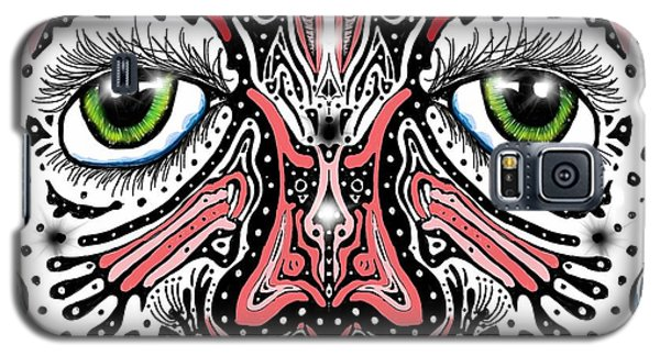 Galaxy S5 Case featuring the digital art Doodle Face by Darren Cannell