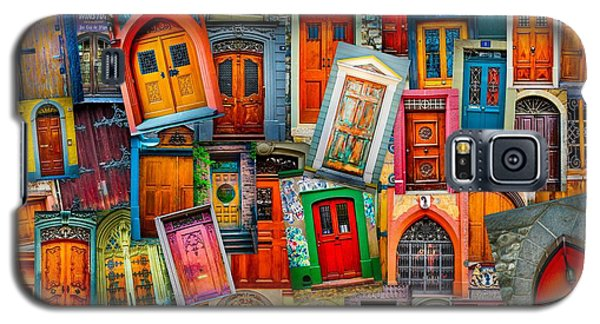 Door Collage Mashup Galaxy S5 Case by TK Goforth