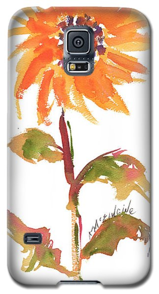 Door Keeper Sunflower Watercolor Painting By Kmcelwaine Galaxy S5 Case