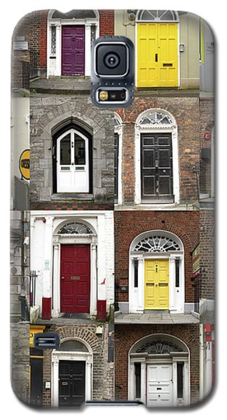 Galaxy S5 Case featuring the photograph Doors Of Limerick by Marie Leslie