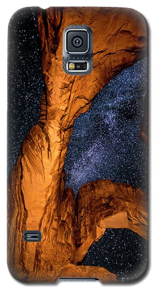 Double Arch And The Milky Way - Utah Galaxy S5 Case