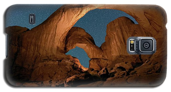 Double Arch And The Milky Way - Arches National Park - Moab, Utah By Olena Art - Brand  Galaxy S5 Case