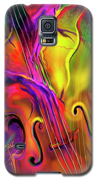 Galaxy S5 Case featuring the painting Double Bass Solo by DC Langer