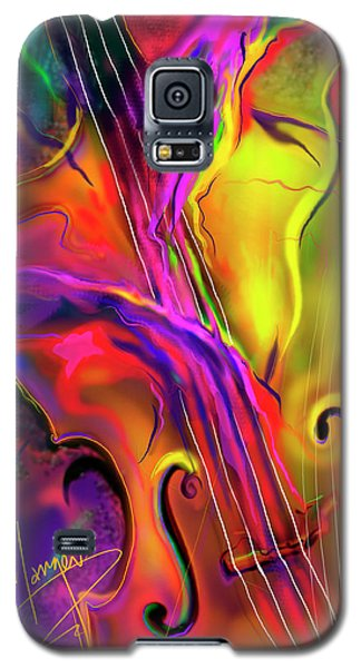 Double Bass Solo Galaxy S5 Case by DC Langer