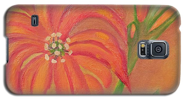 Galaxy S5 Case featuring the painting Double Headed Orange Day Lily by Margaret Harmon