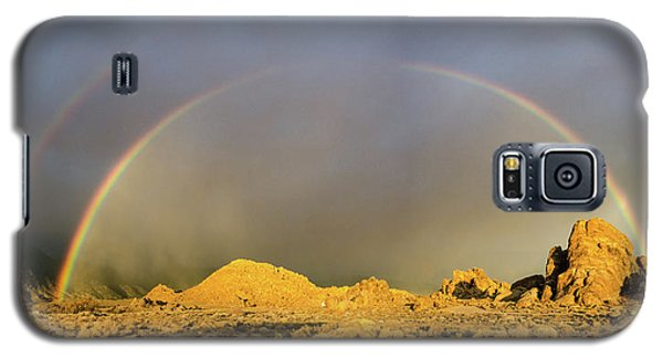 Double Rainbow Gold Galaxy S5 Case