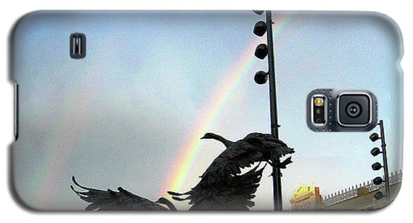 Double Rainbow Over Old Town Square Galaxy S5 Case