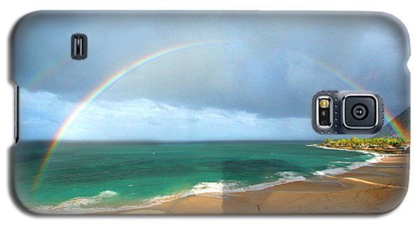 Double Rainbow Over Turtle Beach Galaxy S5 Case