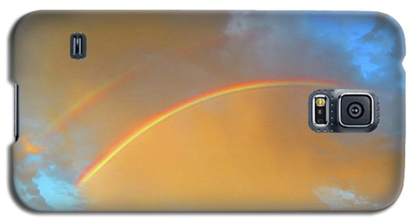Double Rainbows In The Desert Galaxy S5 Case