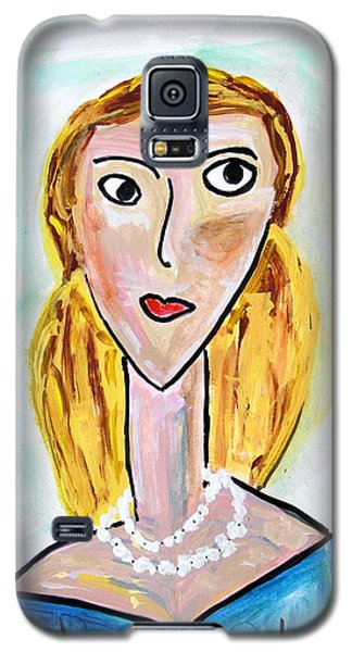Galaxy S5 Case featuring the painting Double Strand by Mary Carol Williams