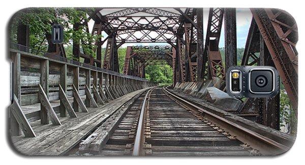 Double Truss Bridge #1679 On The Wmsr Galaxy S5 Case by Jeannette Hunt