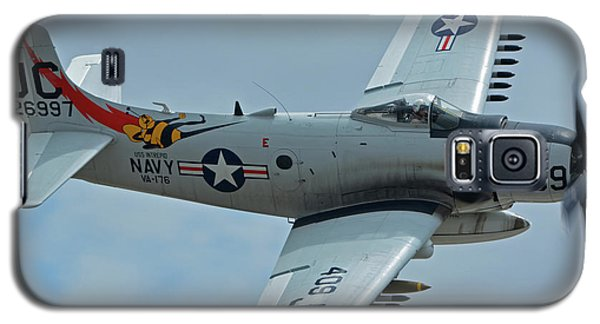 Galaxy S5 Case featuring the photograph Douglas A-1d Skyraider Nx409z Chino California April 30 2016 by Brian Lockett