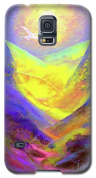 Galaxy S5 Case featuring the painting Dove Valley by Jane Small