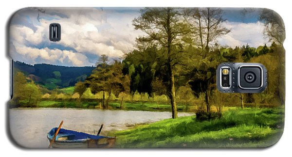 Down By The Lake Photodigitalpainting Galaxy S5 Case by David Dehner