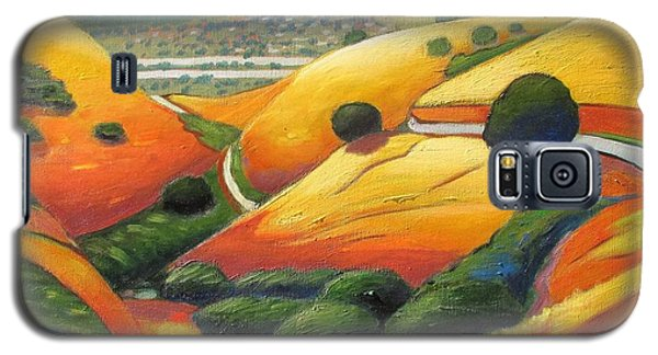 Galaxy S5 Case featuring the painting Down Metcalf Road by Gary Coleman