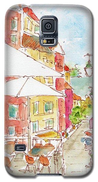 Galaxy S5 Case featuring the painting Down Rua Serpa Pinto Lisbon by Pat Katz