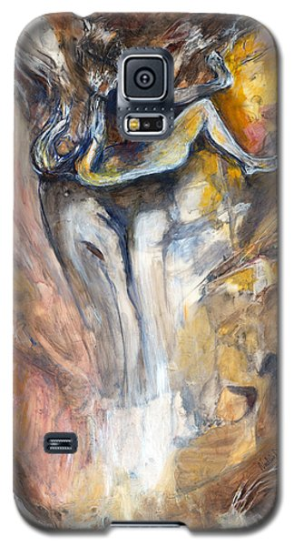 Galaxy S5 Case featuring the painting Down The Rabbit Hole by Nadine Dennis