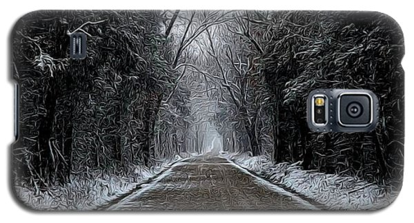Down The Winter Road Galaxy S5 Case