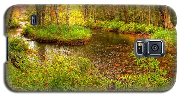 Galaxy S5 Case featuring the photograph Downeast Fall Stream by Alana Ranney