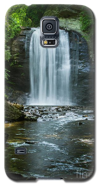 Galaxy S5 Case featuring the photograph Downstream Shade Looking Glass Falls Great Smoky Mountains Art by Reid Callaway