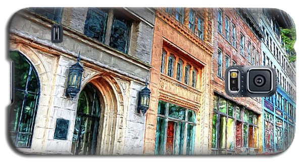Downtown Asheville City Street Scene II Painted Galaxy S5 Case