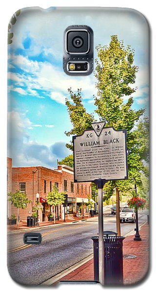 Downtown Blacksburg With Historical Marker Galaxy S5 Case by Kerri Farley