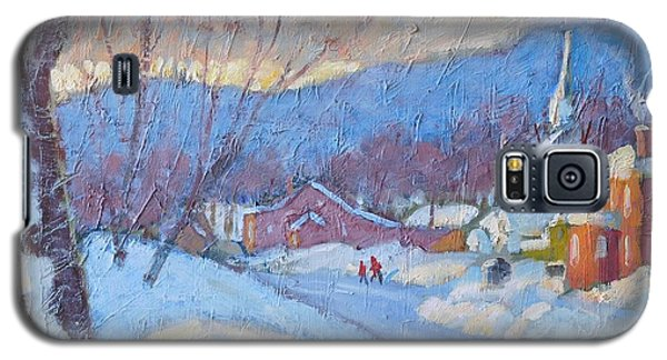 Galaxy S5 Case featuring the painting Downtown Cheshire 2016 by Len Stomski