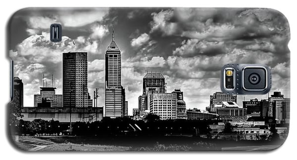 Downtown Indianapolis Skyline Black And White Galaxy S5 Case